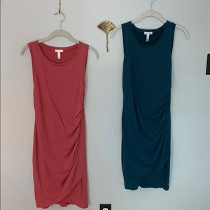 Nordstrom - Leith size M ruched jersey dresses